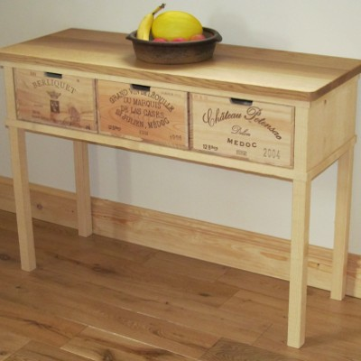 3 drawer side table from Bois Rustique