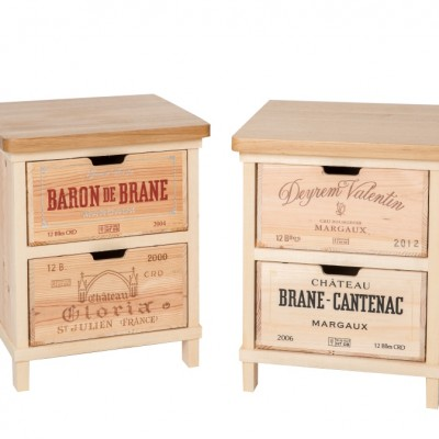 Wine Crate Bed Side Table