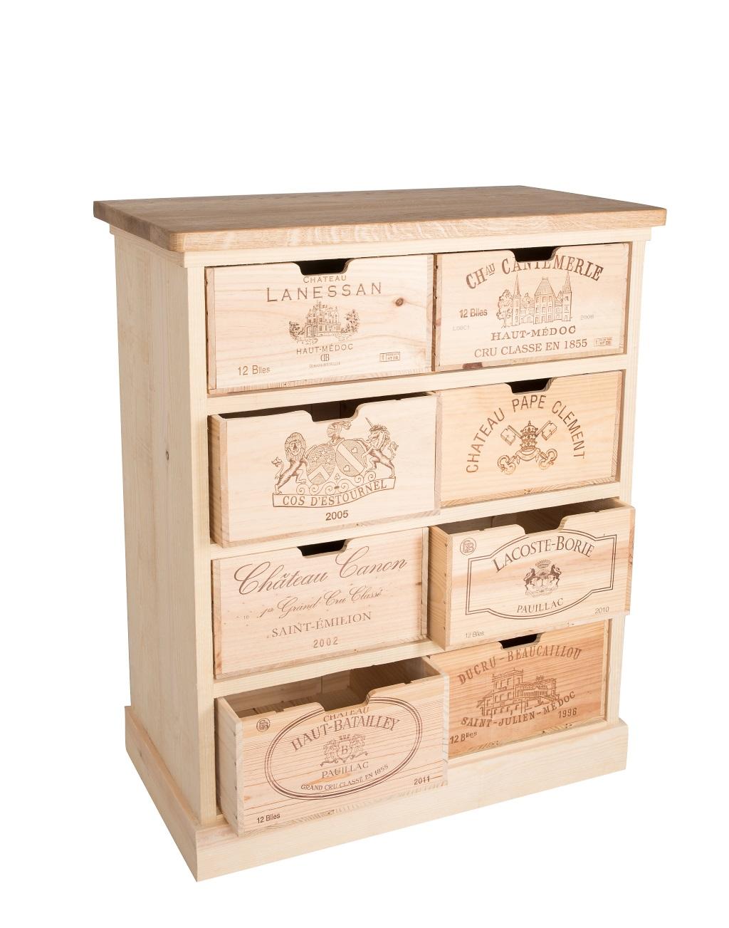 Wine Crate Furniture Chest Of 8 Drawers Wine Crate Furniture E
