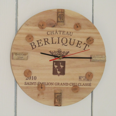 Unique wine clock