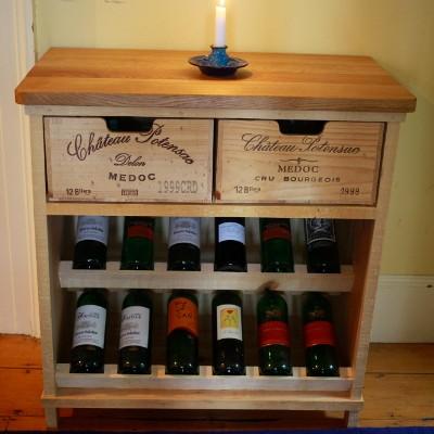Bois rustique wine crate furniture for Wine crate furniture