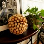 wine cork ball on sidetable