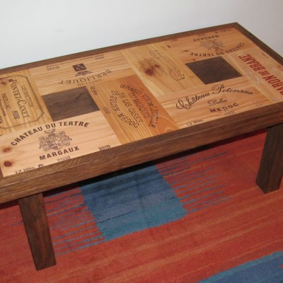 Oak wine crate coffee table