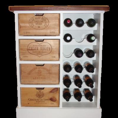 Corked wine rack